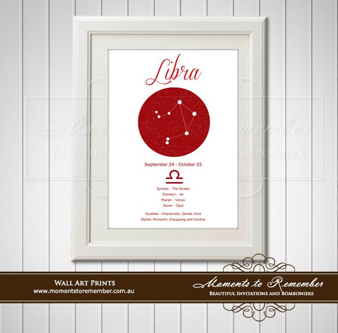 Zodiac Print Libra