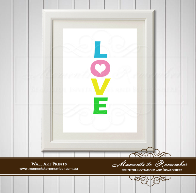 Children's Wall Art - Love