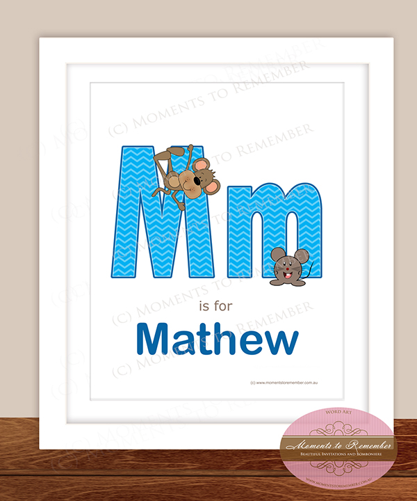 Alphabet Name Print - Letter M for Boys