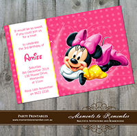 Childrens Invitation - Minnie Mouse 02