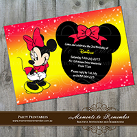 Childrens Invitation - Minnie Mouse 03