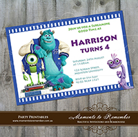 Childrens Invitation - Monsters Inc 01