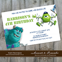 Childrens Invitation - Monsters Inc 03