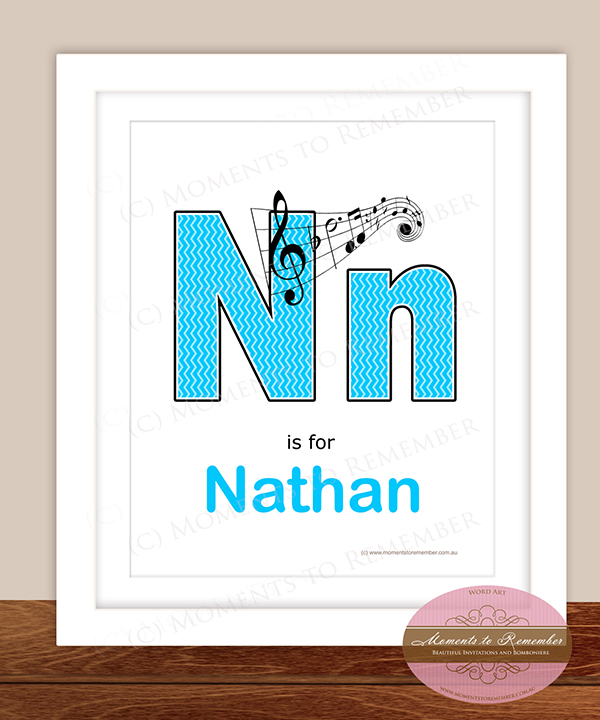 Alphabet Name Print - Letter N for Boys