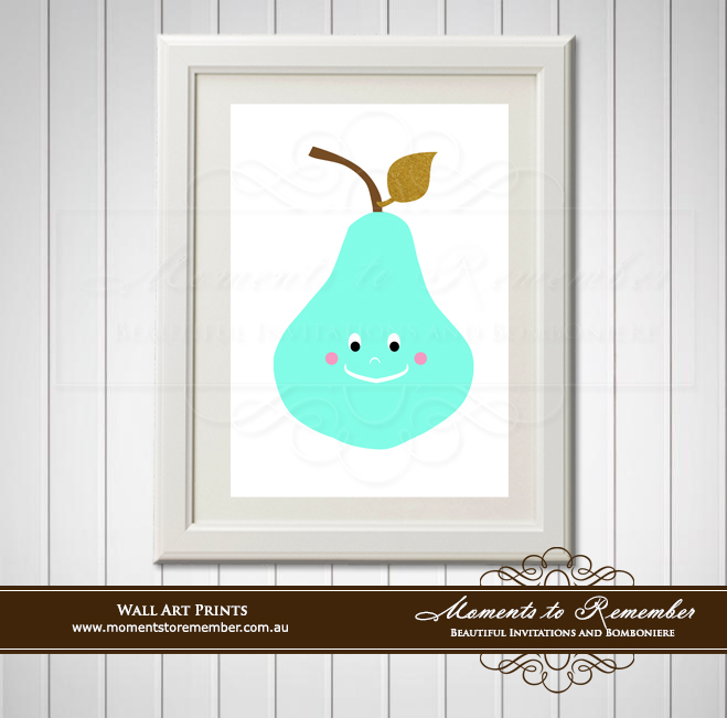 Children's Wall Art - Penny Pear
