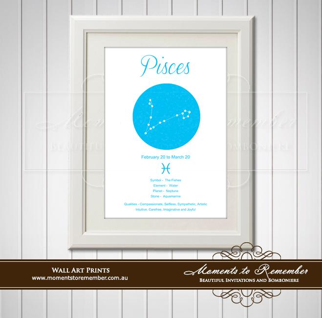 Zodiac Print Pisces