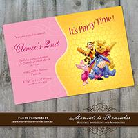 Childrens Invitation - Pooh Bear 01