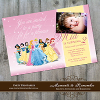 Childrens Invitation - Disney Princesses 01