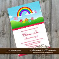 Childrens Invitation - Rainbow 01