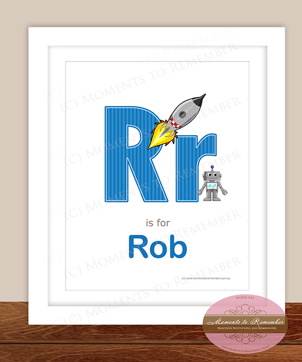 Alphabet Name Print - Letter R for Boys