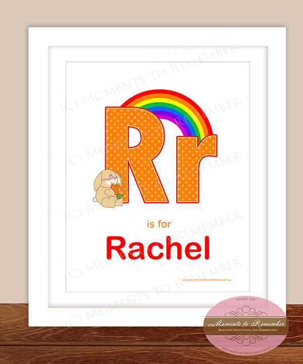 Alphabet Name Print - Letter R for Girls