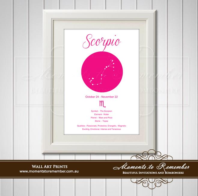 Zodiac Print Scorpio