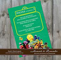 Childrens Invitation - Sesame Street 01