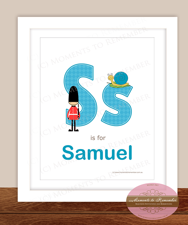 Alphabet Name Print - Letter S for Boys