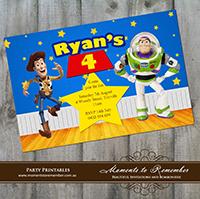 Childrens Invitation - Toy Story 01