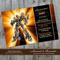 Childrens Invitation - Transformers 01