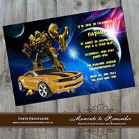 Childrens Invitation - Transformers 02