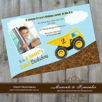Childrens Invitation - Truck 01