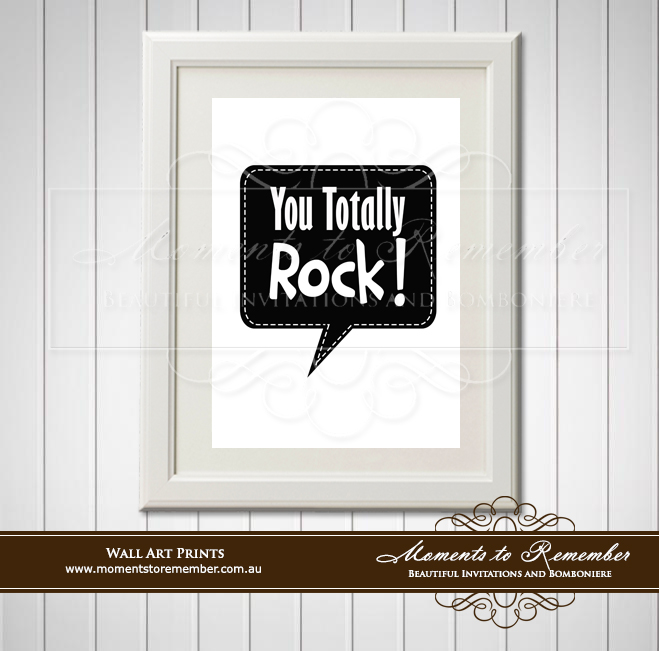 Children's Wall Art - You Totally Rock