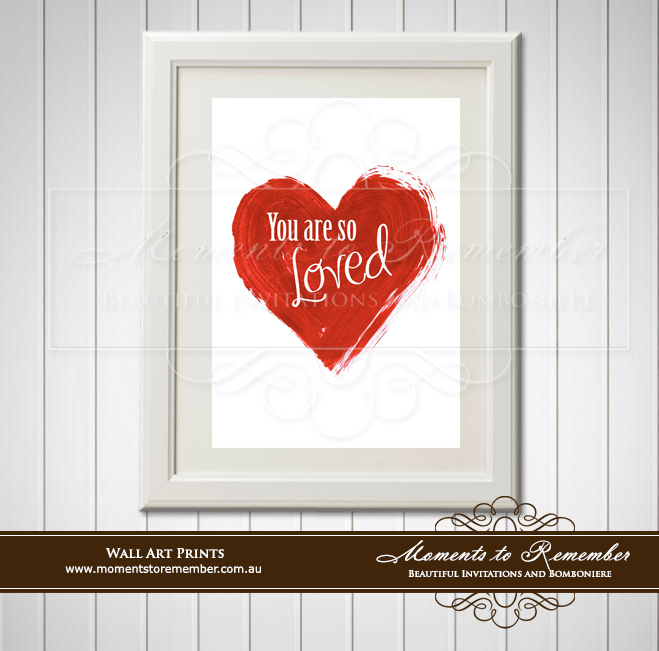 Children's Wall Art - You are so Loved